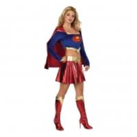 Sexig Supergirl Maskeraddräkt