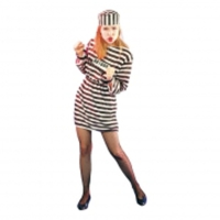 Kvinnlig Fånge Budget Maskeraddräkt - One size