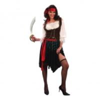 Piratkvinna Budget Maskeraddräkt - One size