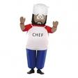 Uppblåsbar Chef Maskeraddräkt