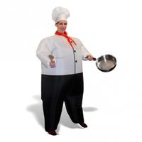 Lustig, uppblåsbar kockdräkt