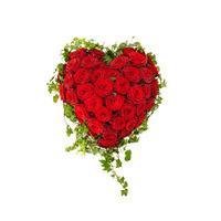 Ett hjärta av rosor