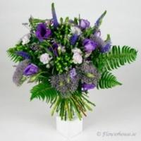 Vacker, glad lila bukett