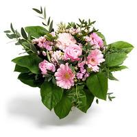 Fem blomsorters bukett