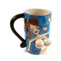 Coffee mug with 3D-boobs