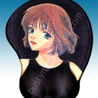 Animé boob shaped mousepad