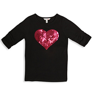 Sequin Heart Tee Shirt