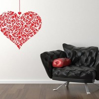 Vinyl Hanging Heart Decal