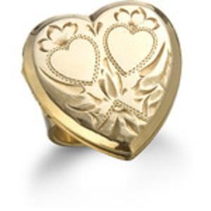Vintage Heart Locket Ring
