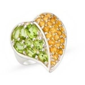 Citrine & Peridot stones ring