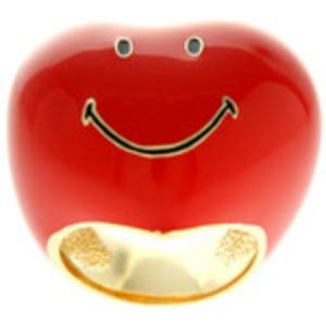 Enamel Smiley Heart Ring