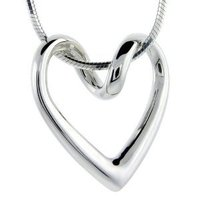 Sterling Silver Floating Heart