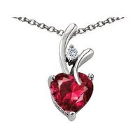 White gold and ruby pendant
