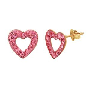 Pink Crystal Stud Earrings