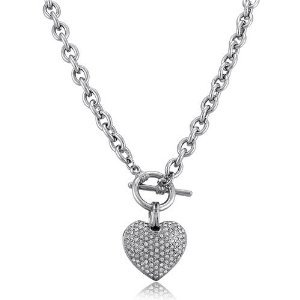 Puffed Silver Pendant and Necklace