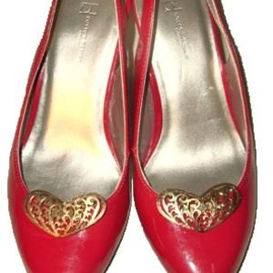 Vintage Filigree Heart Shoe Clips