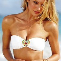 Rhinestone Heart Swimwear