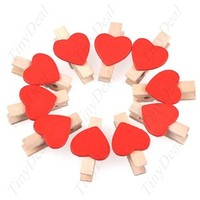 Heartshaped Wooden Clip Holder