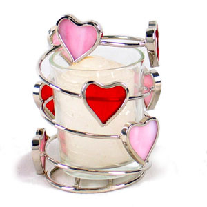 Swirling Glass Heart Votive