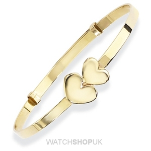 Double Hearts Bangle