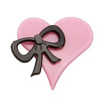 Heart and Bow Pin Brooch