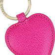 Pink Leather Keychain