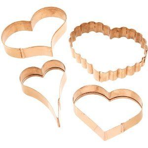 Valentine's Day Copper Cookie Cutters