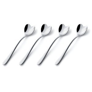 Set of four heart shaped Spoons