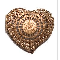 Metalic Heart Brooch