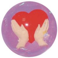 Studsboll med hjärtmotiv från Tilda toys