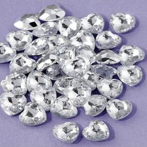 Dekorationshjärtan silver