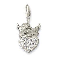 Silverängel med hjärta