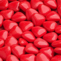 Chokladhjärtan röda