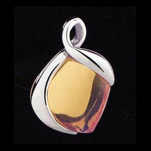 Aphrodite silverhalsband (bärnsten)