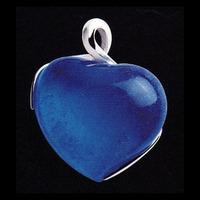 Hängsmycke med mörkblått hjärta(modell större)