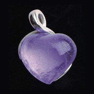 Hängsmycke med mörklila hjärta(modell mindre)