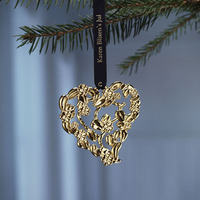 Guldigt blomsterhjärta