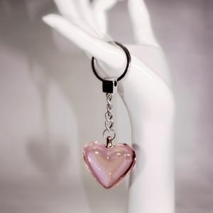 Nyckelring med rosa hjärta