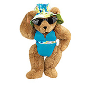 Modern Beach Girl Bear
