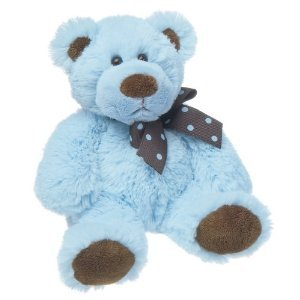 Chocolate Blue Plush Bear
