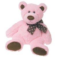 Chocolate Pink Plush Bear