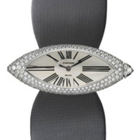 Fräck damklocka från Cartier med diamanter