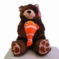 Björn med fisk