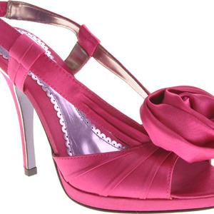 Satin high heel sandal
