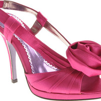 Satin high heel sandal