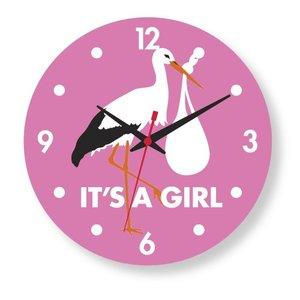 IT'S A GIRL clock