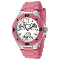 Stainless Steel Pink Polyurethane Watch