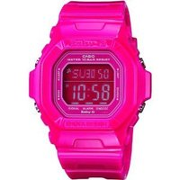 Digital Pink Resin Strap Watch