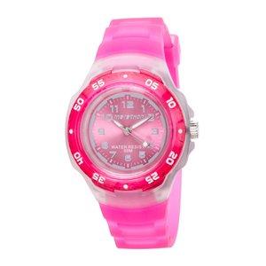 Analog Bright Pink Resin Watch
