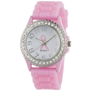 Breast Cancer Awareness Silicone Watch
